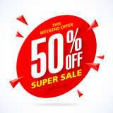 Weekend super sale banner Stock Images