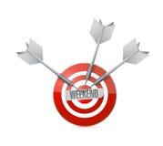 Weekend target sign illustration design Royalty Free Stock Images