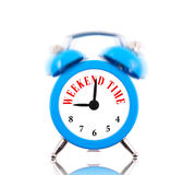 Weekend time! Alarm clock Royalty Free Stock Images