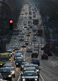 City traffic, Belgrade, Kneza Milosa street Stock Photo