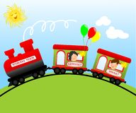 Weekend train, cdr vector Stock Photos