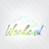 Weekend Typography. Background in retro style with Zzz and label Royalty Free Stock Images