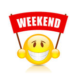 Weekend vector banner Royalty Free Stock Photos