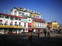 Weekend walking street on Kinh Nghia Thuc square in the center of Hanoi Royalty Free Stock Photography