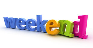 Weekend word. Weekend word from three-dimensional letters Stock Photos