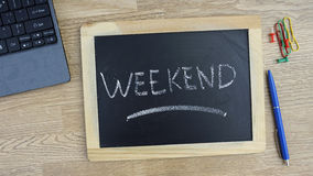 Weekend written Royalty Free Stock Photo