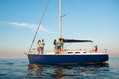 Weekend on a yacht. Royalty Free Stock Image