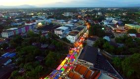Weekendmarkt in Maesot, Tak Thailand stock videobeelden