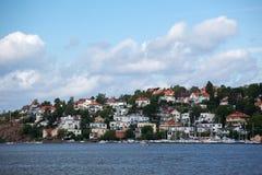 Weekendowe siedziby w Stockholm Zdjęcia Stock
