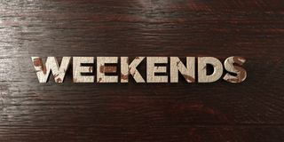 Weekends - grungy wooden headline on Maple  - 3D rendered royalty free stock image Stock Image