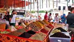 Weekly bazaar of Lara district stock video footage