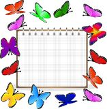 Weekly and bright butterflies Royalty Free Stock Photos