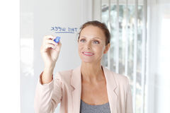 Weekly business plan Stock Photography