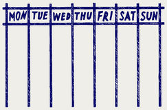 Weekly calendar Royalty Free Stock Images