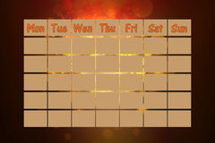 Weekly calendar Royalty Free Stock Photo
