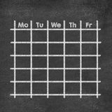 Weekly calendar for working days Stock Photo