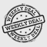Weekly deal rubber stamp isolated on white. Stock Photos