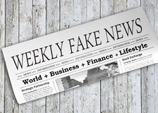 Weekly Fake News Newspaper Royalty Free Stock Images