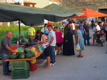 Weekly Greek Street Market. Stock Photo