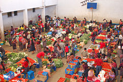 Weekly market in Chichicastenango. In Guatemala Stock Photos