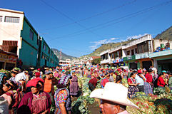 Weekly market in Chichicastenango. In Guatemala Royalty Free Stock Images