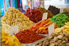Weekly market, fresh food Royalty Free Stock Image