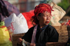 The weekly market of Kalaw in Myanmar Royalty Free Stock Image