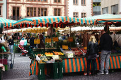 Weekly market Mainz Royalty Free Stock Images