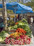 At the weekly market in Split Stock Images