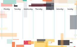 Weekly memo background illustration. Planner template design. Weekly memo background illustration Royalty Free Stock Image