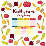 Weekly menu daily planner Royalty Free Stock Photography