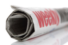 Weekly news, newspaper headline Royalty Free Stock Photo