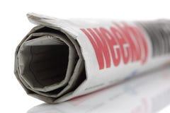Weekly news, newspaper headline royalty free stock photo