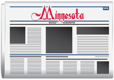 Weekly newspaper for Minnesota Stock Images