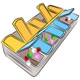 Weekly Pill Organizer Stock Images