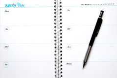 Weekly Plan Stock Photography