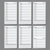 Weekly planner 2015. Weekly planner for efficiency use of time Royalty Free Stock Photo