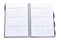 Weekly Planner Isolated Royalty Free Stock Image