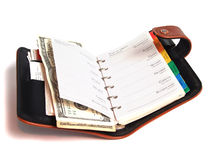 Weekly planner over white Royalty Free Stock Images