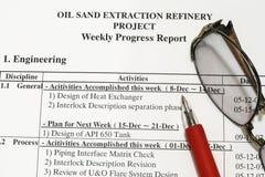 Weekly progress Report Stock Images