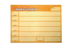 Weekly schedule Royalty Free Stock Photos