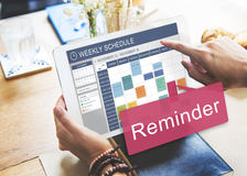 Weekly Schedule Reminder Activities Planner Concept Royalty Free Stock Image