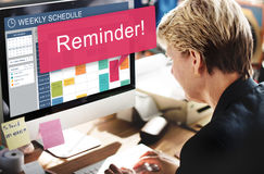 Weekly Schedule Reminder Alert Concept Stock Photography