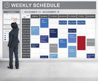 Weekly Schedule To Do List Appointment Concept Stock Image