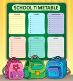 Weekly school timetable composition 7 Stock Photos