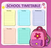Weekly school timetable composition 8 Royalty Free Stock Image