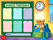 Weekly school timetable concept 3 Stock Photography