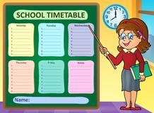 Weekly school timetable concept 7 Stock Images