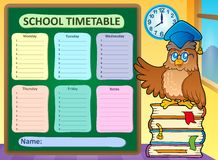 Weekly school timetable concept 9 Stock Photography