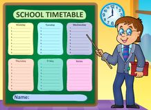 Weekly school timetable concept 6. Eps10 vector illustration Royalty Free Stock Photo